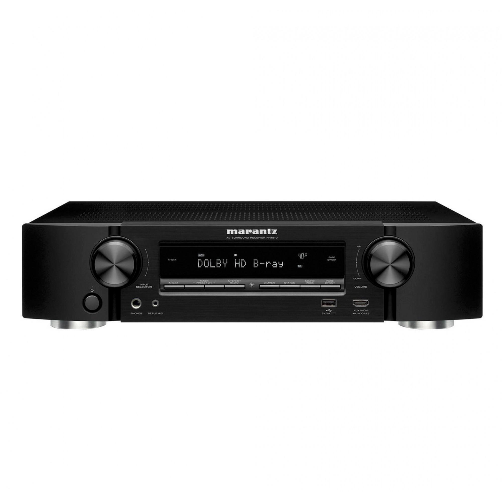 Marantz NR1510 Receiver 5.2 canais 4K Bluetooth Wi-fi Dolby Vision HLG 220v