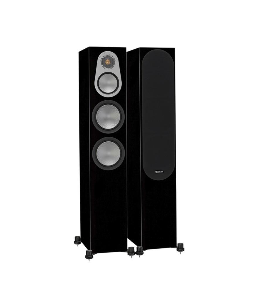 Monitor Audio Silver 300 Caixas Torre 200W High Gloss Black ( Par )
