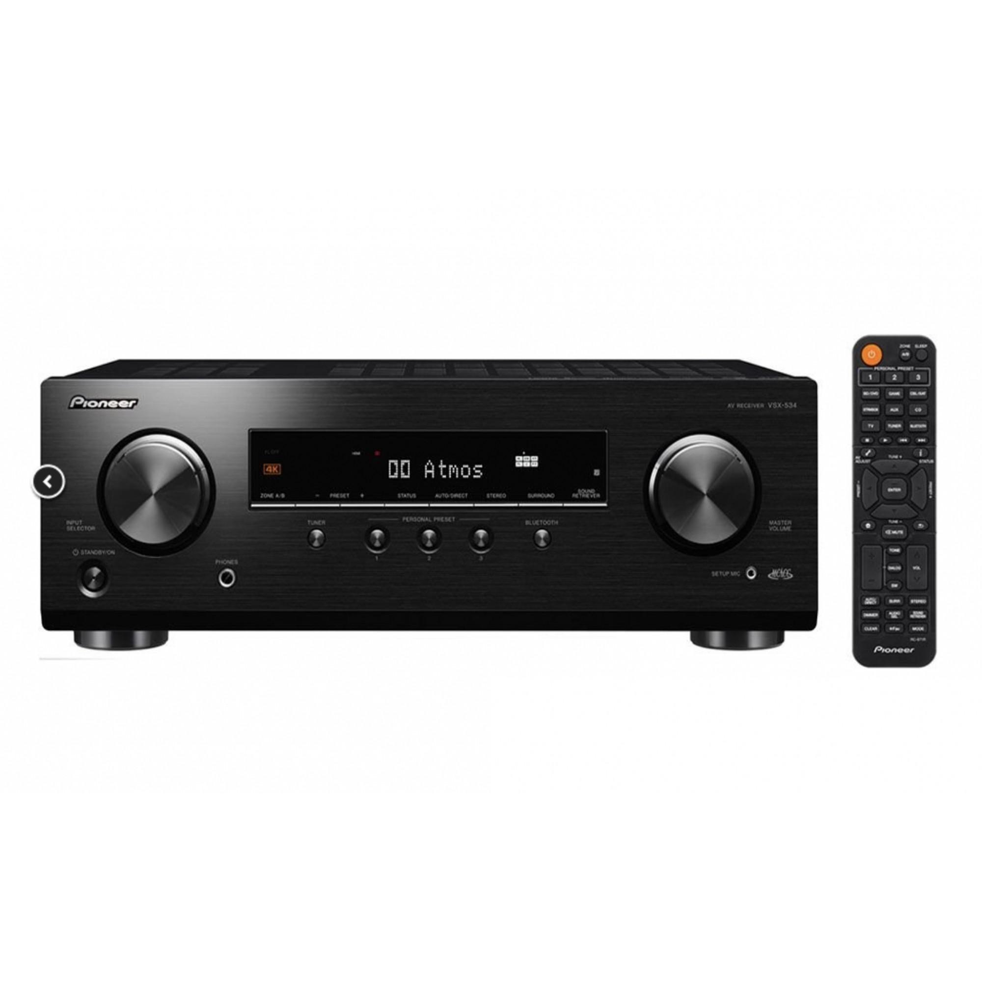 Pioneer Vsx-534 - Receiver 5.2 Canais Dolby Atmos 4K Ultra HD 80 W - 110v