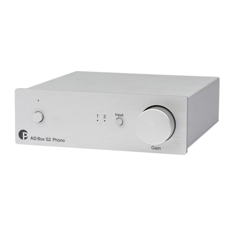 Pro-Ject Box S2 Phono Conversor A / D para linha e Phono com saída analógica e USB ( Silver )
