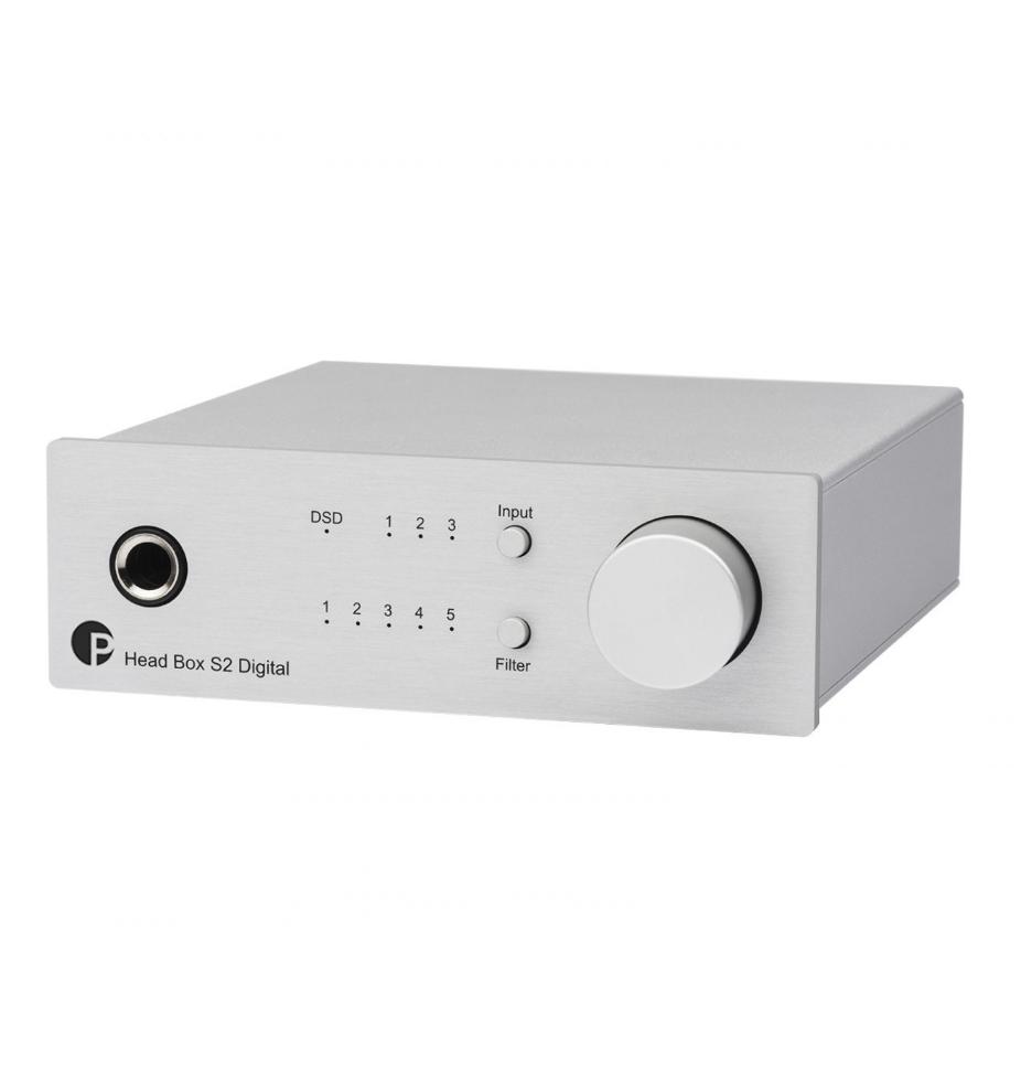 Pro-Ject BOX DESIGN Head Box S2 Digital Amplificador Fone Com Dac 32 bits e DSD256 ( Silver )