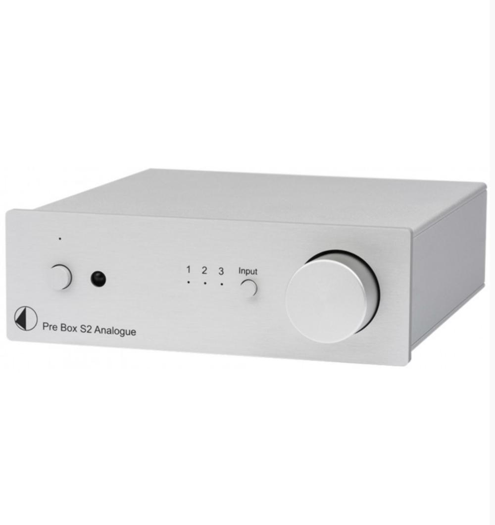 Pro-Ject Pre Box S2 Analogue Pré-amplificador de linha estéreo Silver