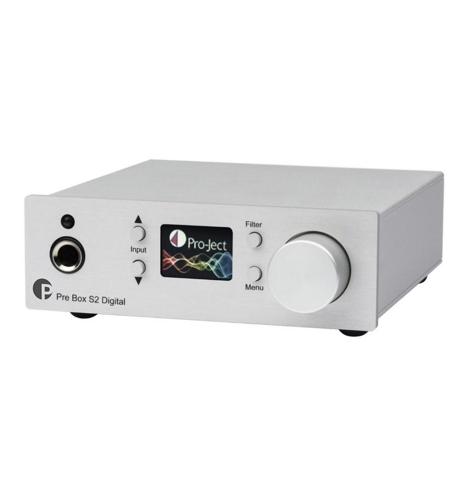 Pro-Ject Pre Box S2 Digital Micro pré-amplificador digital com suporte a MQA e DSD512 ( Silver )