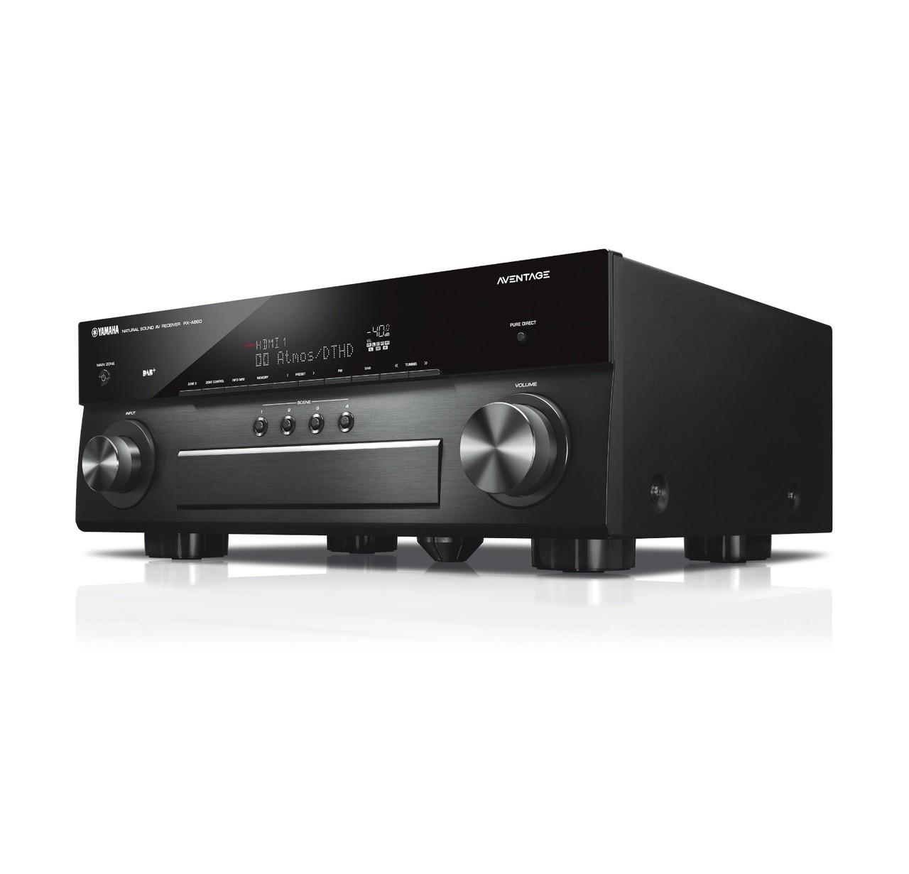 Receiver 7.2ch Yamaha RX-A880 AVENTAGE Dolby Atmos Wifi Spotify Airplay BT 4K UHD Zona 2 - Bivolt