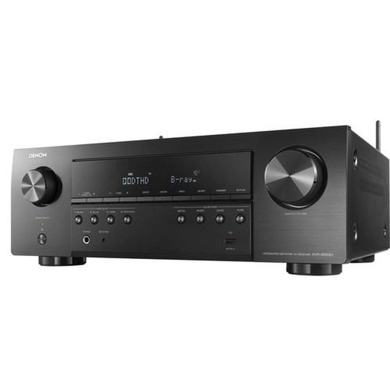 Receiver Denon AVR-S650H 5.2ch 4K UHD HDR10 Bluetooth USB Wifi - Preto/110v