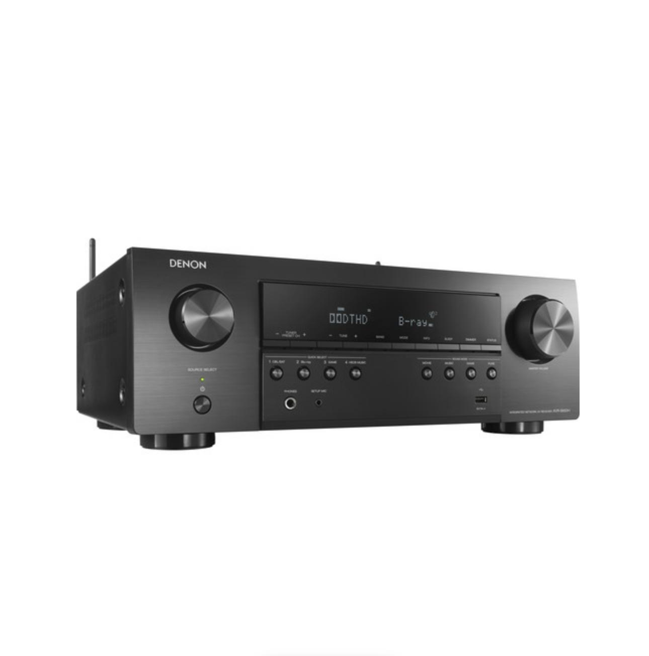 Receiver Denon - AVR-S650H 5.2ch 4K UHD HDR10 Bluetooth USB Wifi - Preto/110v
