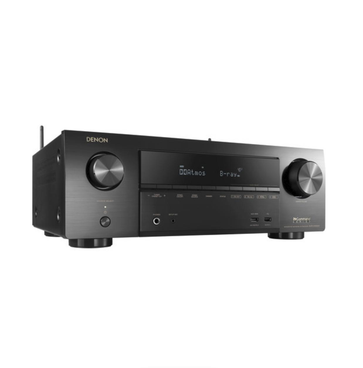 Receiver Denon AVR-X1600H 7.2ch 4K UHD HDR10 Dolby Atmos Bluetooth USB Wifi Zona 2 - Preto/110v