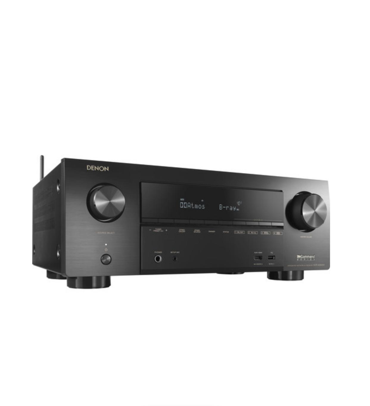 Receiver Denon AVR-X2600H 7.2ch 4K UHD HDR10 Dolby Atmos Bluetooth USB Wifi Zona 2 - Preto/110v