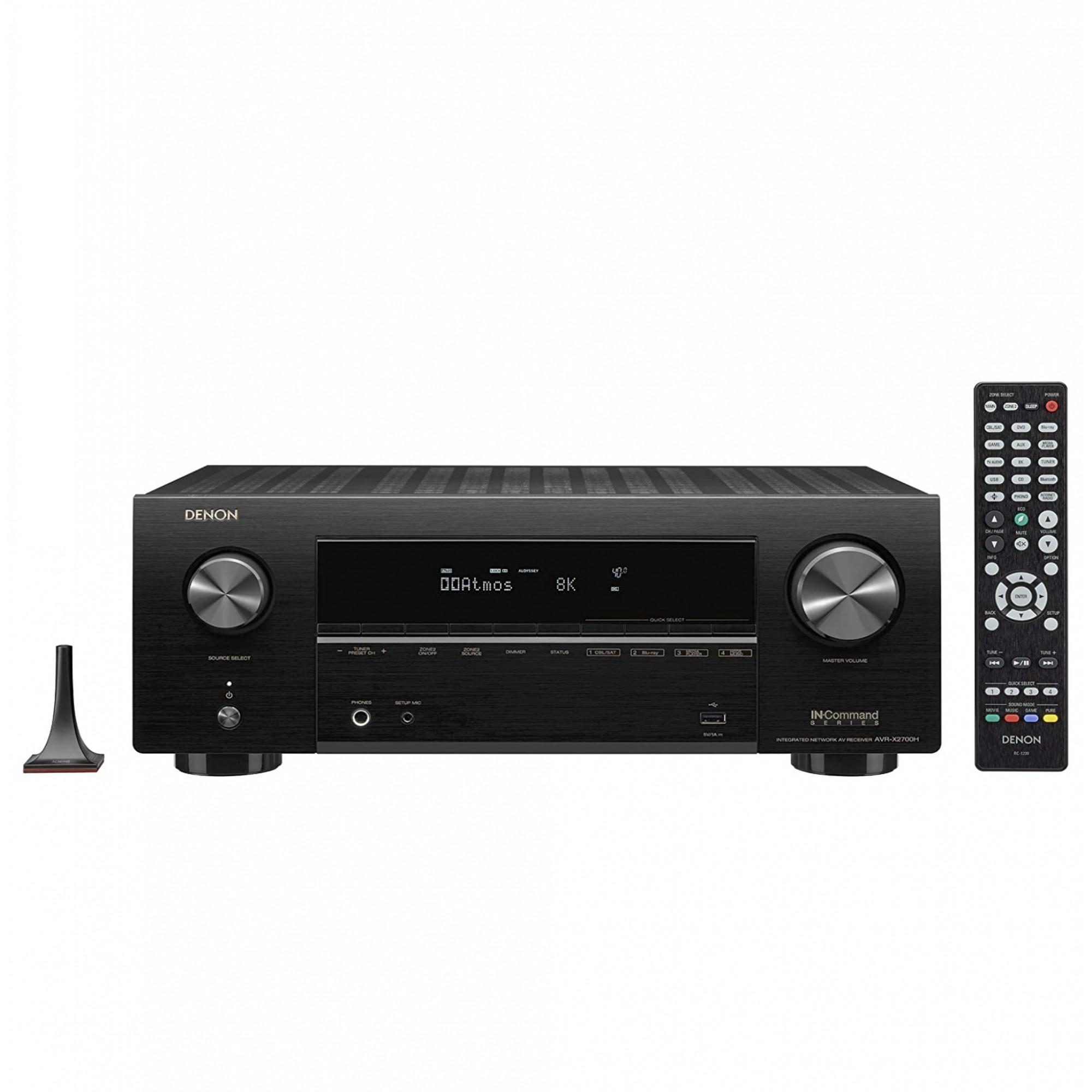 Receiver Denon AVR-X2700H ( Modelo 2020 ) 7.2ch 95W Canal 8K Dolby Atmos eARC - 120V  Heinrich Audio