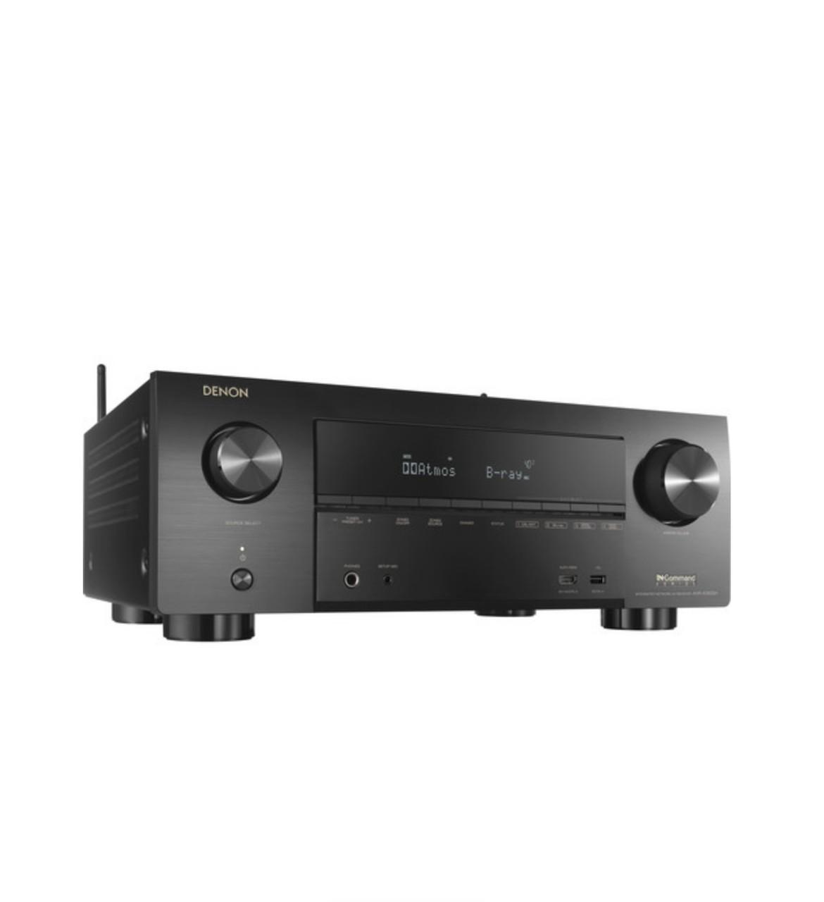 Receiver Denon AVR-X3600H 9.2ch WiFi Bluetooth 4K UHD 3D HDR10 DolbyAtmos DTX:X Alexa - Preto