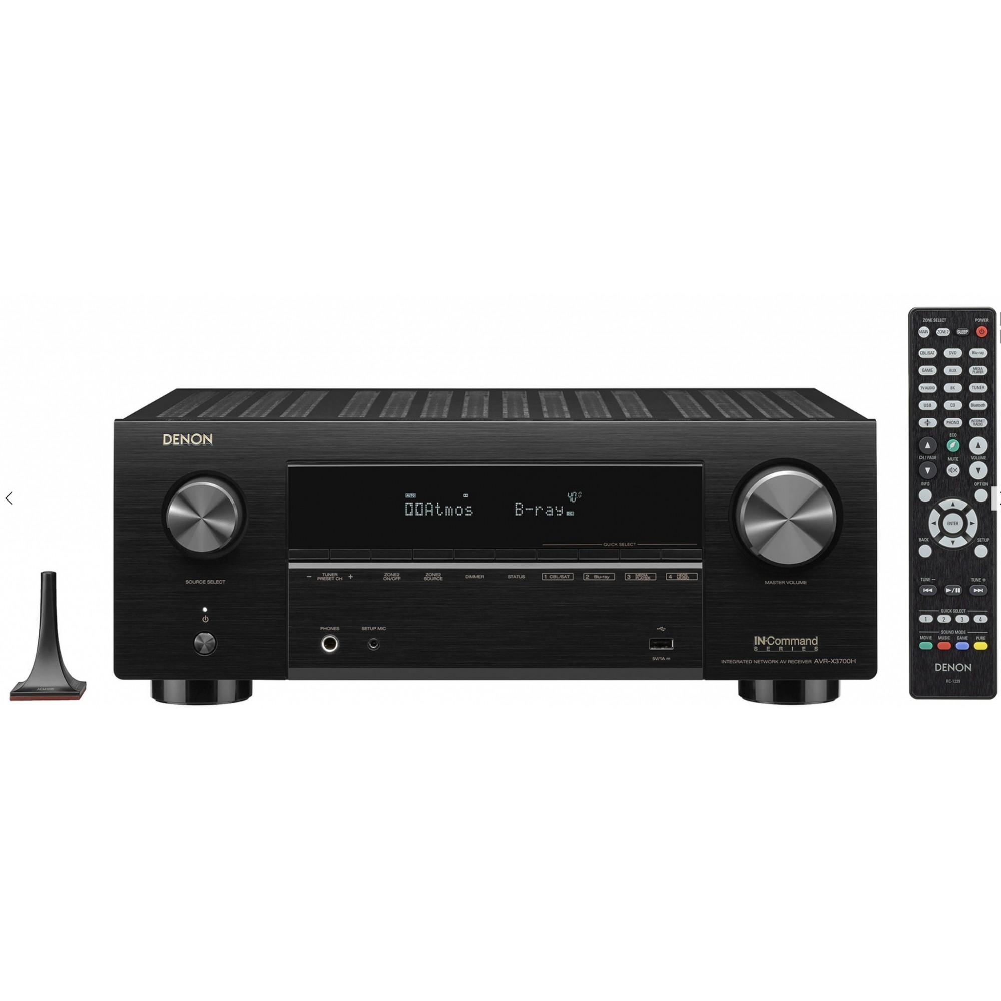 Receiver Denon Avr-x3700h ( 2020 ) 9.2 CH 8k Dolby Atmos - 120v