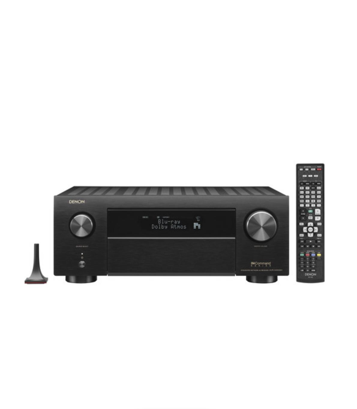 Receiver Denon AVR-X4500H 9.2ch WiFi Bluetooth 4K UHD 3D HDR10 Dolby Atmos DTX:X - Preto/220v