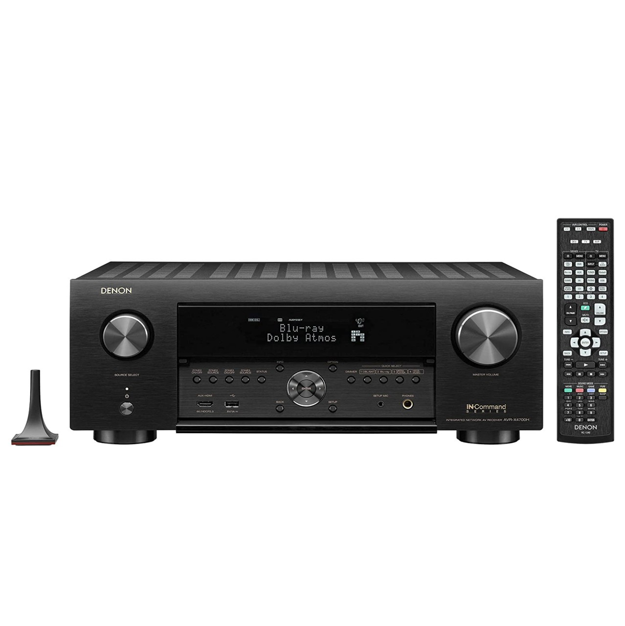 Receiver Denon AVR-X4700H ( Modelo 2020 ) 8K 9.2 Canais Bluetooth Wifi Dolby Atmos Heos Wireless HDR HDMI 110V