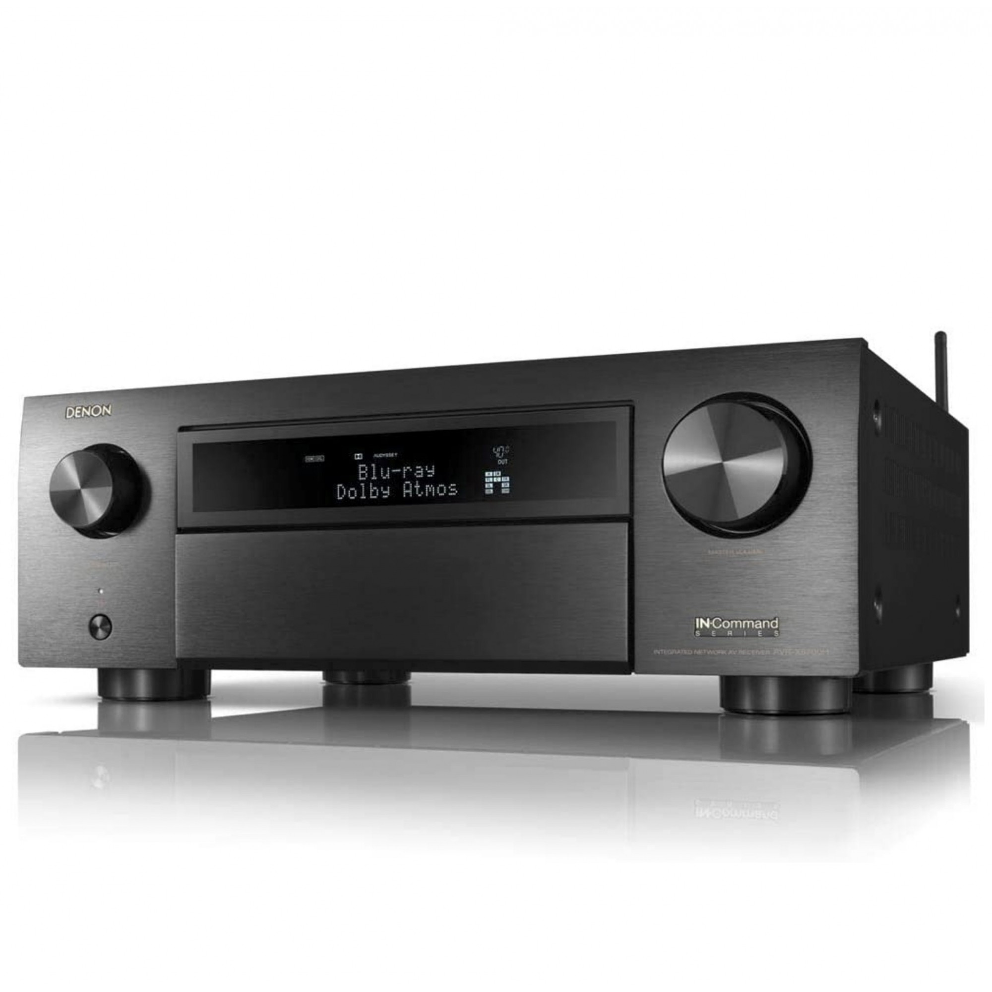 Receiver Denon AVR-X6700H ( Modelo 2020 ) 8k 11.2 canais Bluetooth Wifi Dolby Atmos Heos Wireless HDR - 3 saídas HDMI 110V