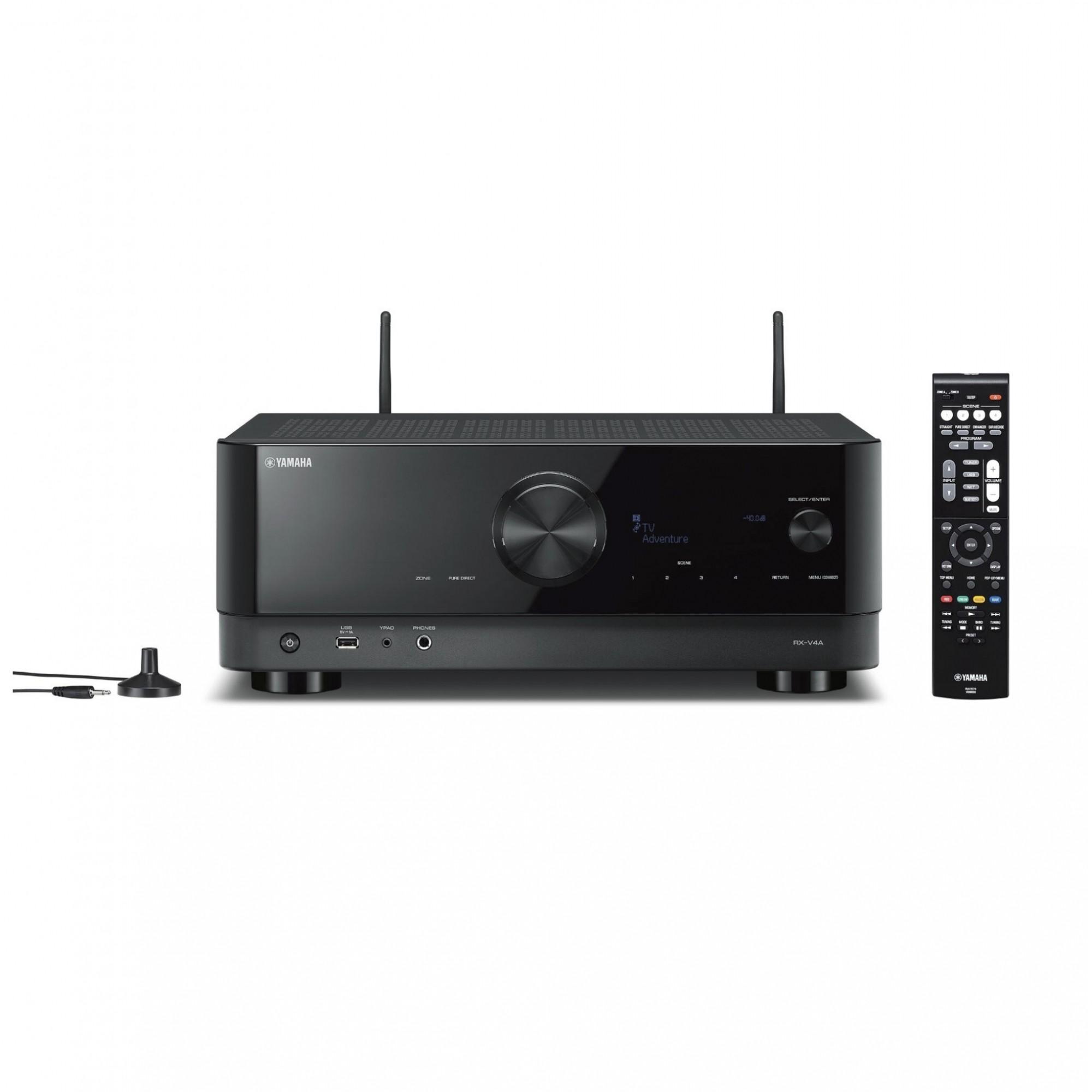 Receiver Yamaha RX-V4A 80w Dolby Vision 5.2 Canais 8K - 220v