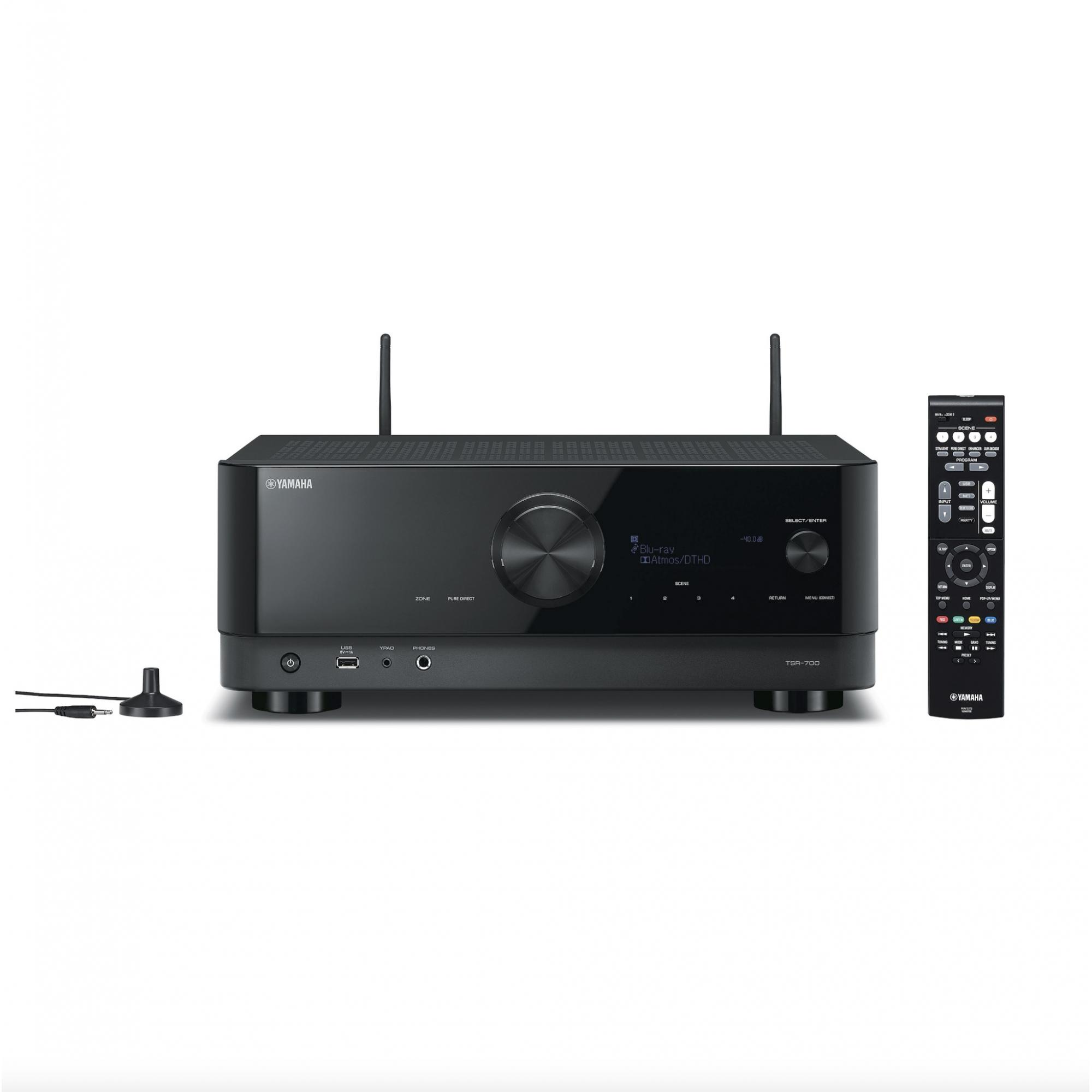 Receiver Yamaha TSR-700 Alexa Dolby Atmos 7.2CH 100w Zona 2 e Phono -120v