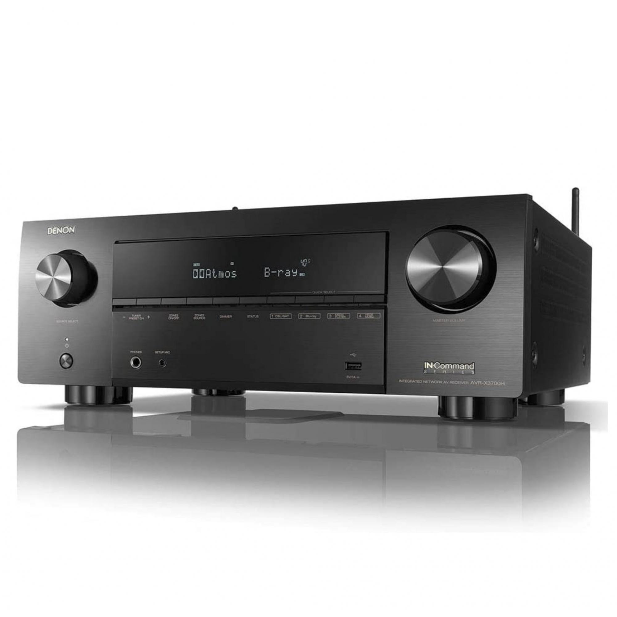 ( Reembalado ) Receiver Denon Avr-x3700h ( 2020 ) 9.2 CH 8k Dolby Atmos - 120v