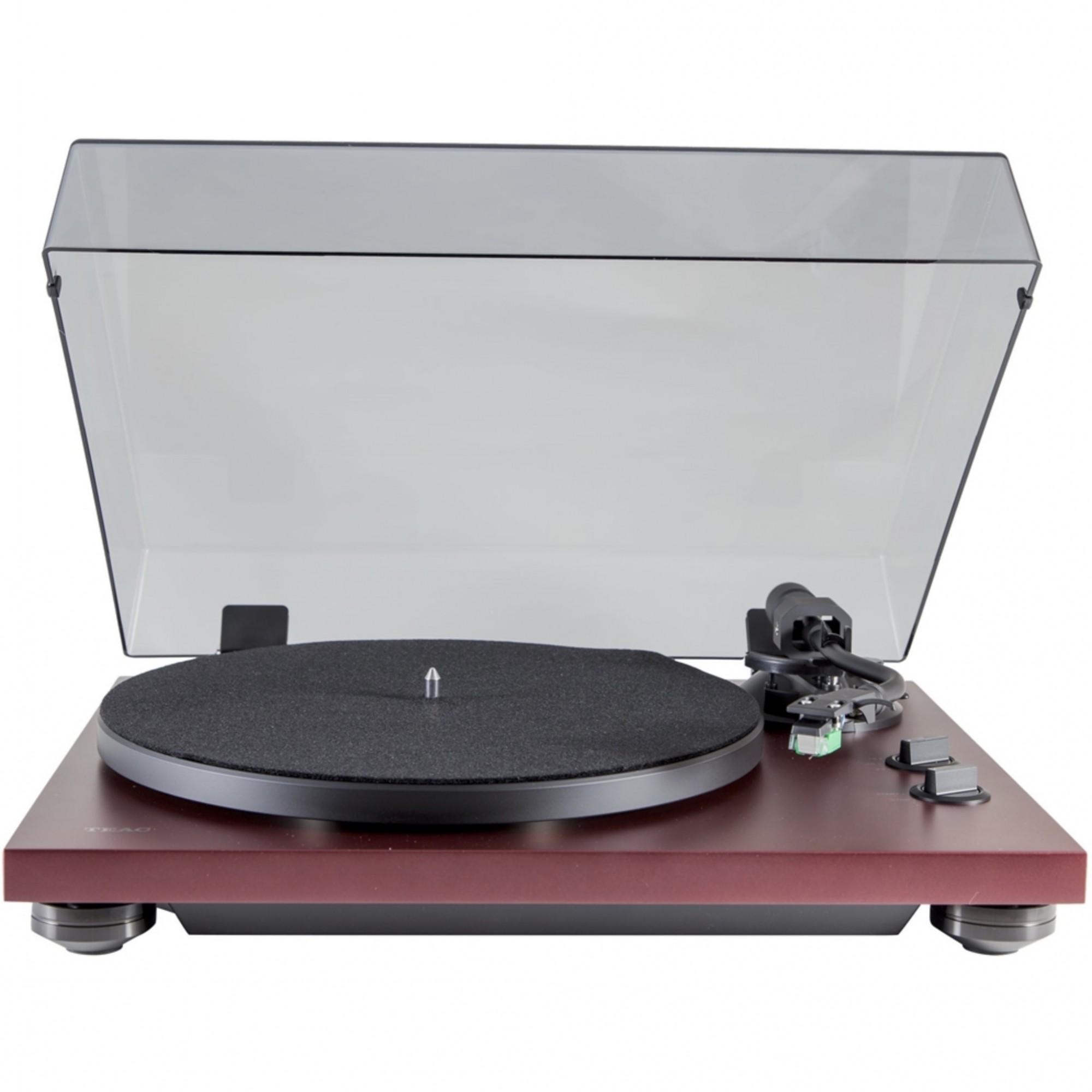 Teac TN-400S Toca Discos Com Phono e USB Bivolt - ( Matte Bordeaux )