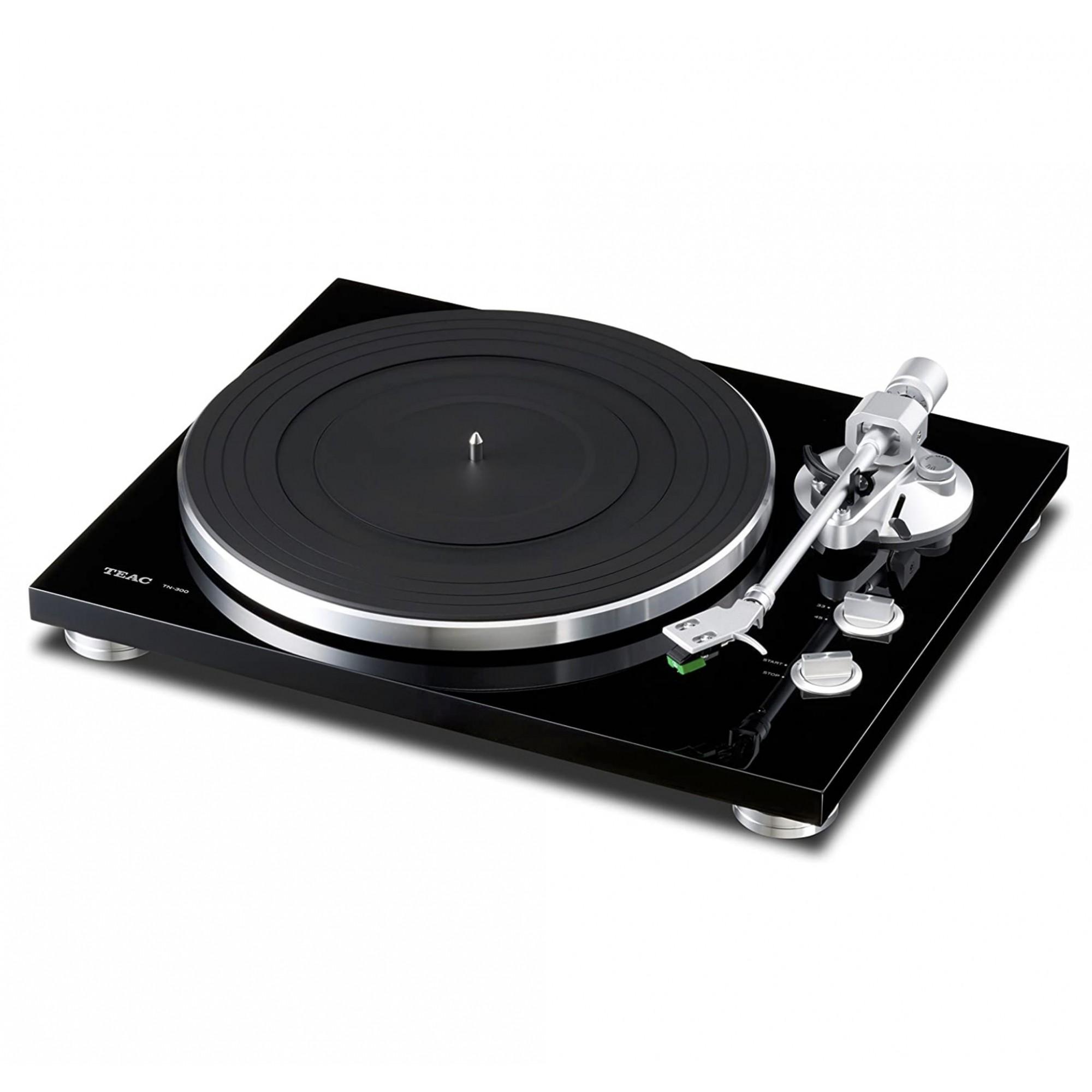 Toca Discos Teac Tn-300 Gravação Usb Cartucho Audio Technica - Preto