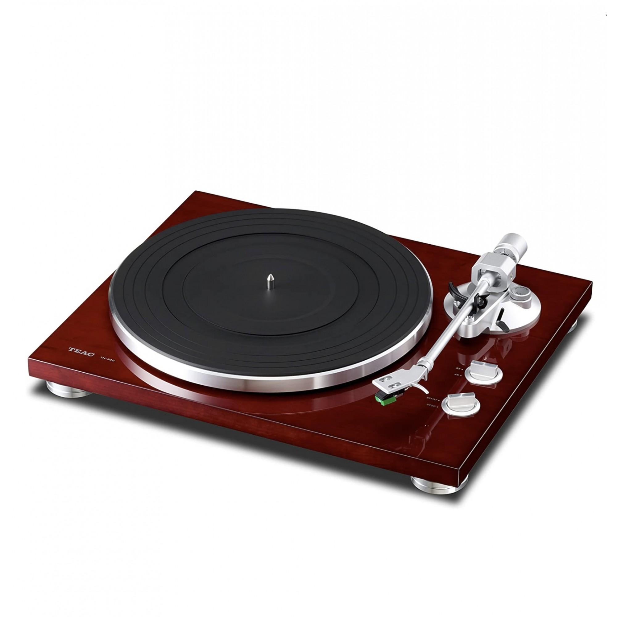 Toca Discos Teac Tn-300 Gravação Usb Cartucho Audio Technica Cherry