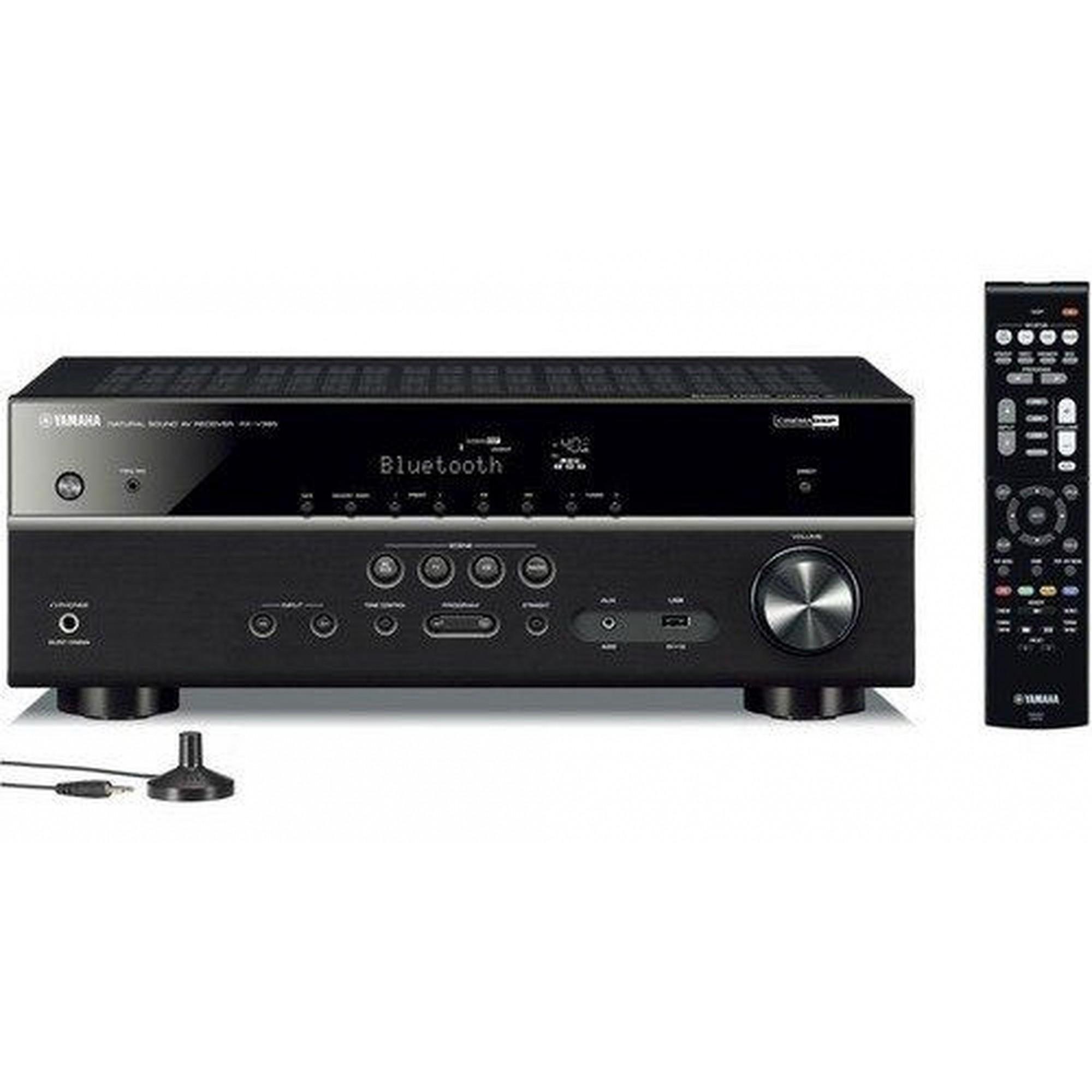 Yamaha RX-V385 Receiver 5.1ch Bluetooth YPAO 4K UltraHD 3D HDR10 - Bivolt