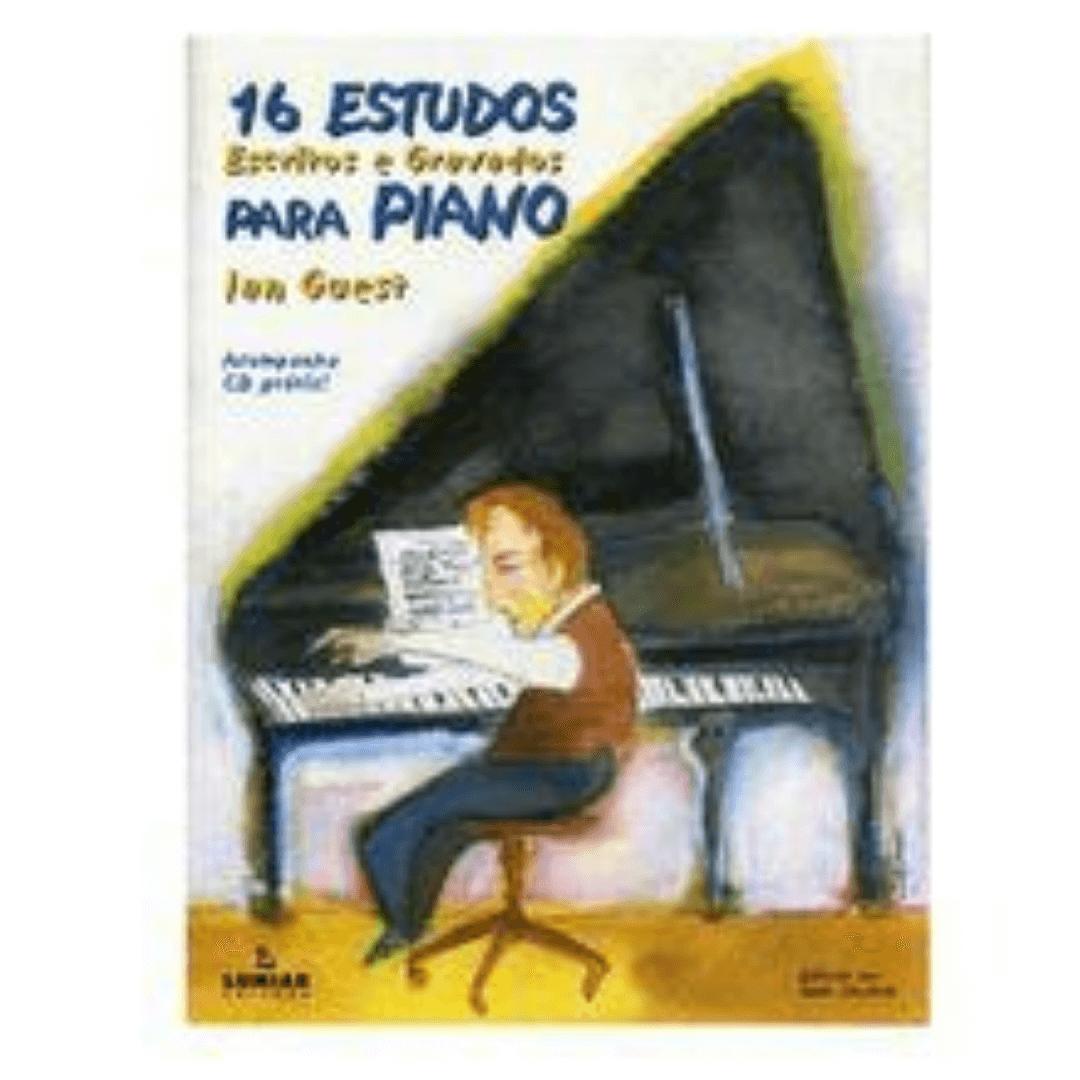 16 ESTUDOS ESCRITOS E GRAVADOS PARA PIANO - Ian Guest - Com CD