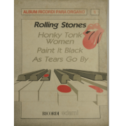 Album Ricordi para Organo 6 - Rolling Stones Honky Tonk Women Paint it Black as Tears Go by BA13489