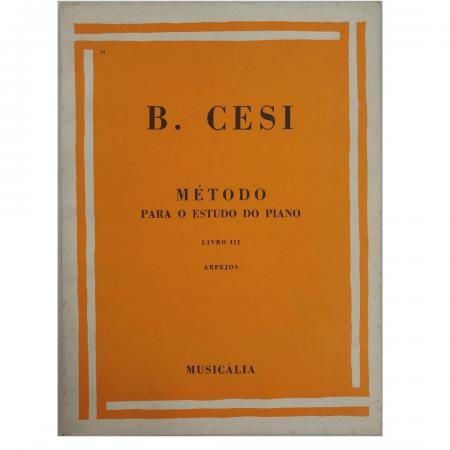 B. Cesi - Método Para O Estudo Do Piano - Volume 3 - Arpejos - Mcm0180