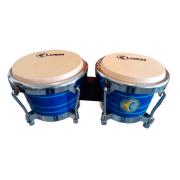 "Bongô 6"" e 7"" Ripa - Pele Animal Pintura Sparkle Azul Luen 45002AZ"