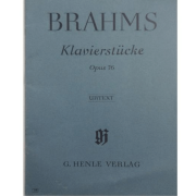 Brahms Klavierstucke Opus 76 - URTEXT - G. Henle Verlag - 118