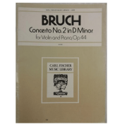 BRUCH Concerto No. 2 in D Minor para Violino e Piano, OP.44 - L853