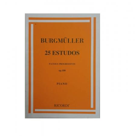 BURGMULLER 25 ESTUDOS FÁCEIS E PROGRESSIVOS - OP. 100 Piano - VOLUME 1 - RB0002