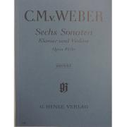 C.M.v. Weber Sechs Sonaten Klavier und Violine Opus 10 (b) Urtext G. Henle Verlag - 182