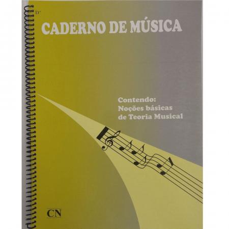 Caderno De Música Grande - Capa Flexível - Espiral - 12 Pautas - Cn0016