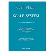 Carl Flesch Scale System Exercícios de escala em todas as chaves principais - Viola 02921