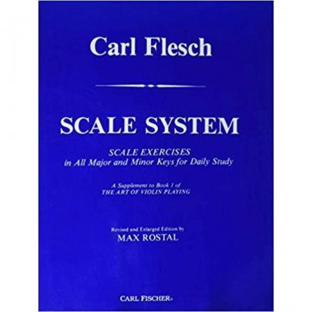 Carl Flesch Scale System Scale Exercises in All Major and Minor Keys for Daily Study - Violino O5188