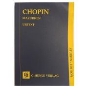 Chopin Mazurken Urtext - G. Henle Verlag - Studien - Edition HN9264