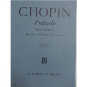 CHOPIN Prélude Opus 28 Nr. 15 Des-dur Db Major Ré b majeur Urtext G.Henle Verlag - 141