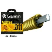 Corda Avulsa Acústica para Violão em Aço 0.032 Giannini GESPW.4 - 4a