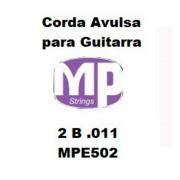 Corda Avulsa MP para Guitarra 2 B .011 - Paganini MPE502