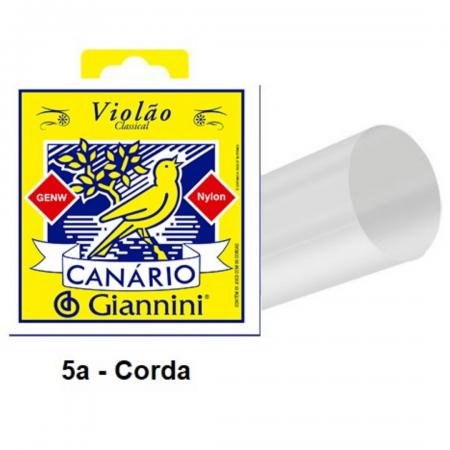 Corda Avulsa para Violão em Nylon Canário 0.035 Giannini Média GENW.5 - 5a