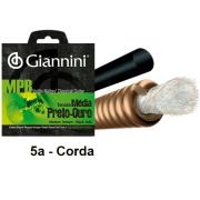 Corda Avulsa Violão Nylon Giannini MPB Tensão Média Preto - Ouro 0.033 GENWBG.5 - 5a