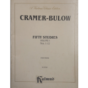 Cramer - Bulow Fifty Studies Volume 1 Nos. 1-12 for Piano K03320 - Kalmus