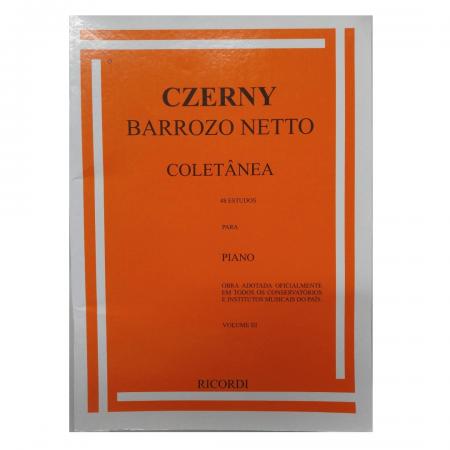 CZERNY - Coletânea - 48 Estudos para Piano - Barrozo Netto - Volume 3 - RB0033
