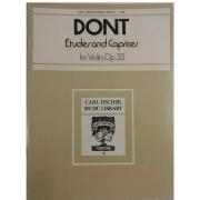 DONT Etudes and Caprices, para Violino Op. 35 - L306
