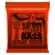Encordoamento de Contrabaixo 6 Cordas Ernie Ball 2838 String Slinky Bass 32 -45-65-80-100-130