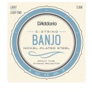 Encordoamento para Banjo 5 Cordas D'addario EJ60 Leve .009 .020