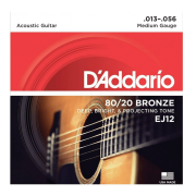 Encordoamento Para Violão Aço D'Addario EJ12 Bronze 013 - 056