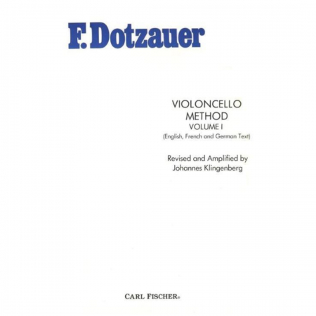 F. Dotzauer violoncello method volume I - O3674