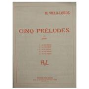 H. VILLA LOBOS CINQ PRÉLUDES para violão
